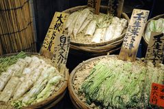 Traditional market in Japan Stock Photo