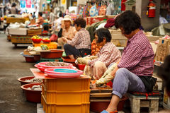 Traditional Market at Jeju, Korea 5 Royalty Free Stock Image