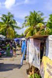 Traditional market in Mataram. A traditional market in streets of Mataram, Lombok, Indonesia stock photo