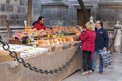 Traditional market of medicinal plants. Granada, Spain stock image