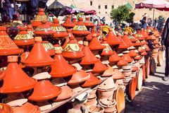 Traditional market in Meknes, Morocco in Africa royalty free stock image