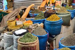 Traditional market in Meknes, Morocco in Africa stock image