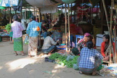 Traditional market in Myanmar Royalty Free Stock Image