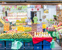 Traditional market in New Taipei City Royalty Free Stock Photos