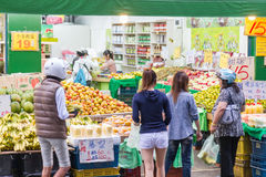 Traditional market in New Taipei City Royalty Free Stock Image
