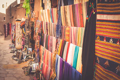 A traditional market in the old city of Essaouira, Morocco Stock Photos