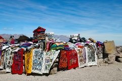 Traditional Market in Peru highland Royalty Free Stock Photos