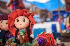 The traditional market of Pisac, Peru Royalty Free Stock Image