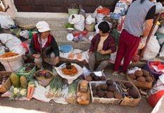Traditional Marketplace with local fruit in Tomohon City Stock Photo