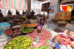 Traditional Marketplace with local fruit in Tomohon City Stock Image