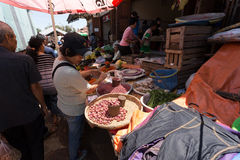Traditional Marketplace with local fruit in Tomohon City Royalty Free Stock Photo