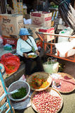 Traditional Marketplace with local vegetable in Tomohon City Royalty Free Stock Image
