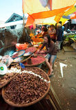 Traditional Marketplace with local vegetable in Tomohon City Royalty Free Stock Photos