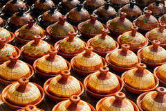 Traditional maroccan pottery. Traditional maroccan potery at the market Royalty Free Stock Photography