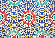 Traditional marrocan tiles. Traditional colorful marrocan tiles background Royalty Free Stock Images