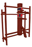 Traditional Martial Arts Wooden Dummy Equipment Royalty Free Stock Photo