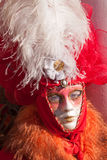 Traditional mask. In venice during carnival Stock Images