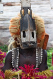 Traditional mask dancer in Dogon Village Mali. Mask dancers in the village of Tireli , Dogon country Stock Photography
