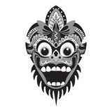 traditional mask illustration of a monkey with a white background stock images