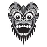 traditional mask illustration of a monkey with a white background stock photo