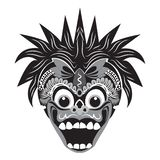 traditional mask illustration of a monkey with a white background royalty free stock image