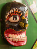 Traditional mask. Traditional Sri Lanken kolam mask used in ritual dancing Royalty Free Stock Image