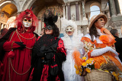 Traditional masks. In venice during carnival Royalty Free Stock Images