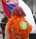 Traditional masks carnival on the occasion of the Orthodox forgiveness holiday Prochka in city of Prilep ,Macedonia. February 26, 2017 Royalty Free Stock Photography