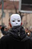 Traditional masks carnival on the occasion of the Orthodox forgiveness holiday Prochka in city of Prilep ,Macedonia. Stock Photography