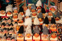 Traditional masks crafts. Romanian traditional masks crafts used as souvenirs for tourists stock image