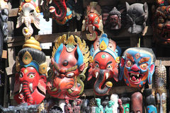 Traditional masks, Nepal Stock Images