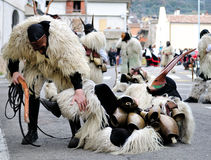 Traditional masks of Sardinia. Royalty Free Stock Images