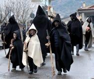 Traditional masks of Sardinia. Royalty Free Stock Photo
