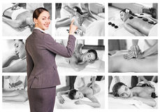 Traditional massage collage. Stock Photography