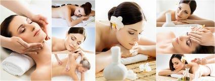 Traditional massage collection. Rejuvenation, health care, heali Stock Image