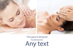 Traditional massage and healthcare treatment in spa. Young, beautiful and healthy girls having recreation therapy Stock Image