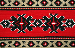 Traditional materials and bulgarian embroidery Stock Images