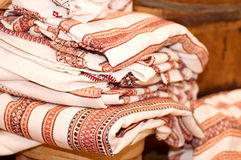 Traditional materials and embroidered Royalty Free Stock Images