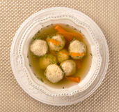 Traditional Matzah Ball Soup for Passover Royalty Free Stock Images