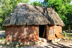 Traditional mayan home Royalty Free Stock Photography