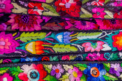 Traditional mayan textiles Royalty Free Stock Image