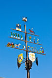 Traditional maypole with clear blue sky Royalty Free Stock Photo