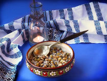 Kutya is a traditional porridge on Christmas Eve. Royalty Free Stock Photo