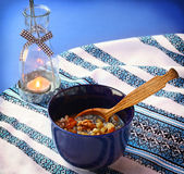 Kutya is a traditional porridge on Christmas Eve. Stock Images