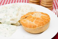 Pie and mash Royalty Free Stock Photo