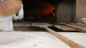 Traditional Meal Turkish Pita Pide. Food Concept video stock video footage