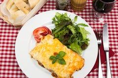 Meat lasagne Stock Photos