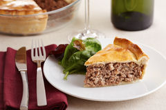 Traditional meat pie on a dish Royalty Free Stock Photo