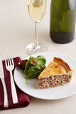 Traditional meat pie on a dish Stock Images