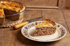 Traditional meat pie on a dish Stock Photos